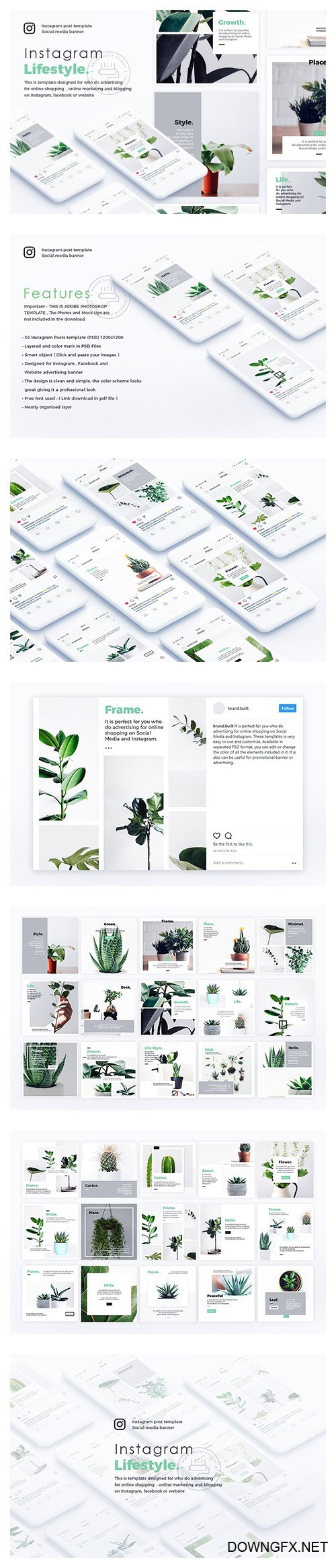 Lifestyle Instagram Posts Template - CM 1999243