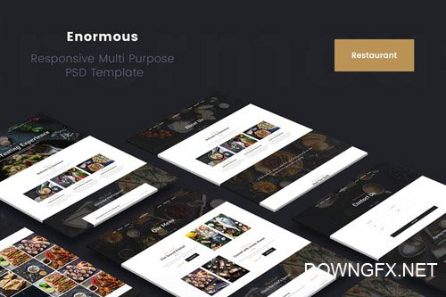 Enormous Restaurant PSD Template
