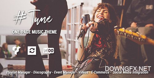 ThemeForest - Tune v1.6.1 - One-Page Music WordPress Theme - 20244376