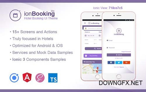 Ionic 3 Hotel Booking Theme Lite - CM 1948155