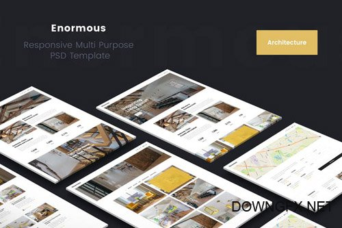Enormous Architecture & Interior PSD Template