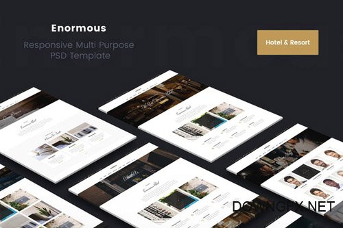 Enormous Hotel & Resort PSD Template