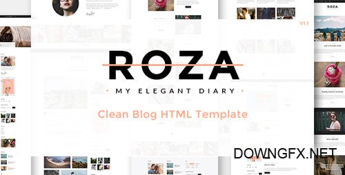 ThemeForest - Roza v1.1 - Clean Blog HTML Template - 17333303