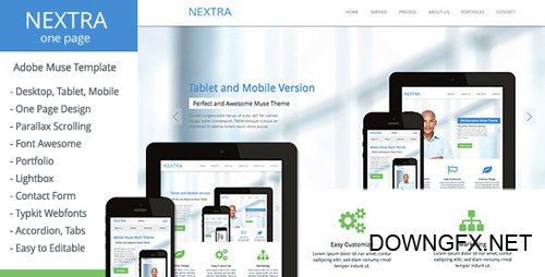 ThemeForest - Nextra v1.0 - One Page Muse Template - 6564608
