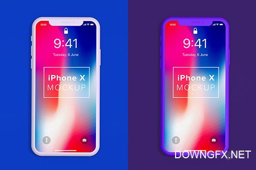Minimal iPhone X Mockup Clay Front