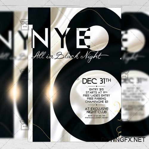 Seasonal A5 Flyer Template - NYE 2018
