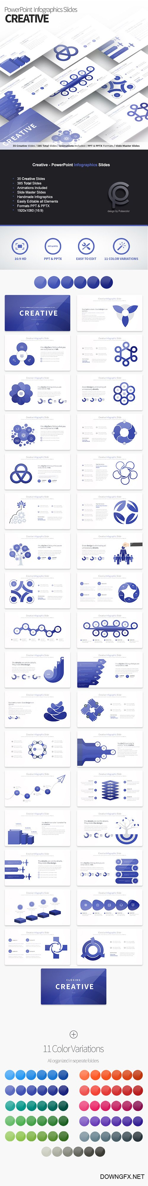 Creative - PowerPoint Infographics Slides 21598934