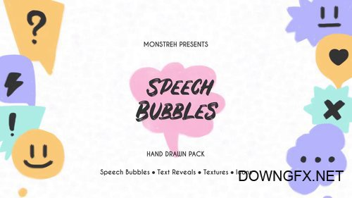 MA - Speech Bubbles - Hand Drawn Pack 73272