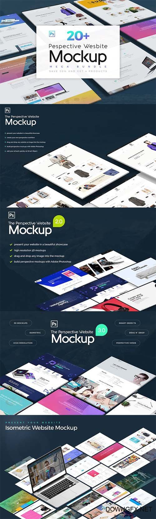 Pespective Website Mockup Bundle 2453008
