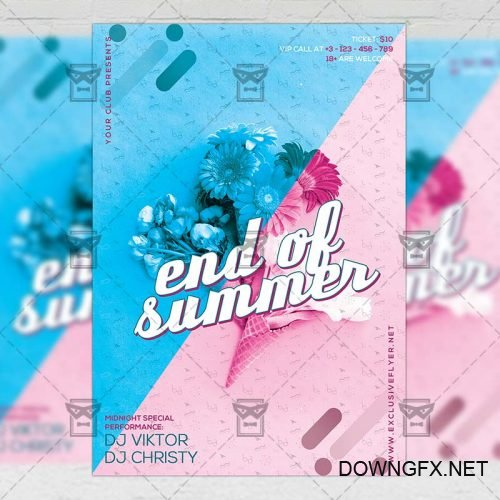 Premium A5 Flyer Template - End of Summer Party