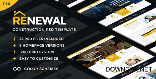 ThemeForest - Renewal | Construction & Industrial PSD Template 21656087