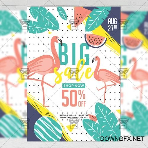 Premium A5 Flyer Template - Summer Big Sale