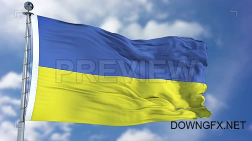 MA - Ukraine Flag Animation 74482