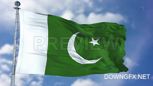 MA - Pakistan Flag Animation 74200