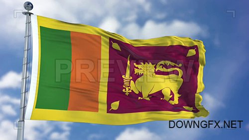 MA - Sri Lanka Flag Animation 74380