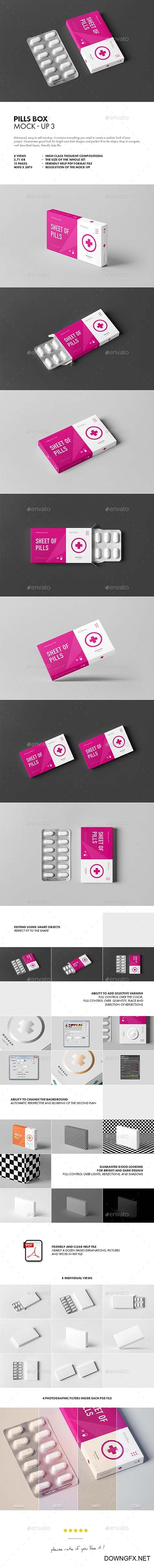 GPills Box Mock-up 3 21812476