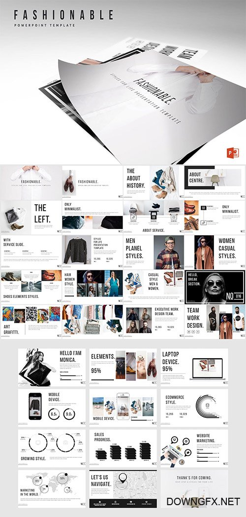 Fashionable Powerpoint Template