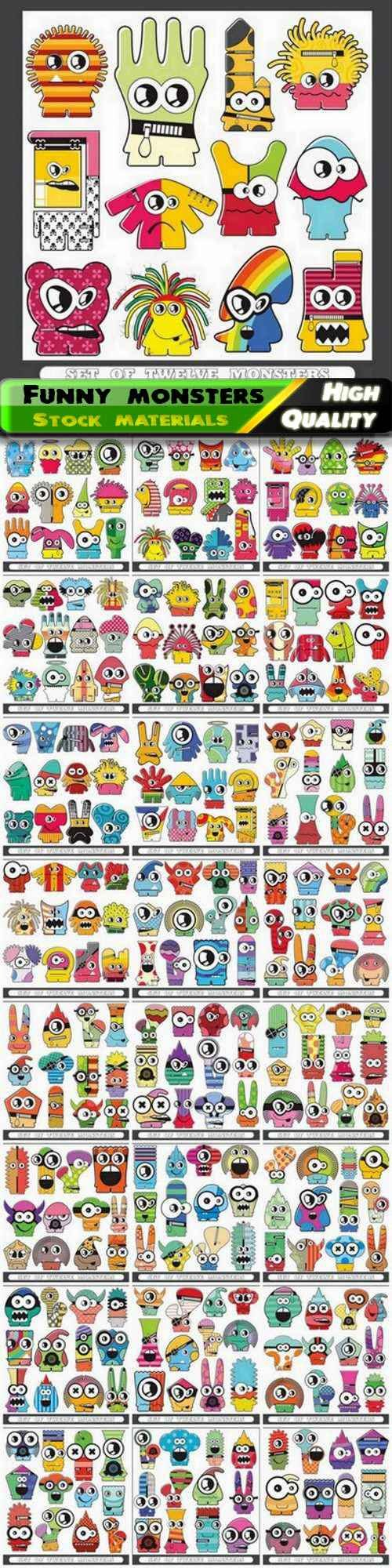 Funny and scary cartoon monster 25 Eps