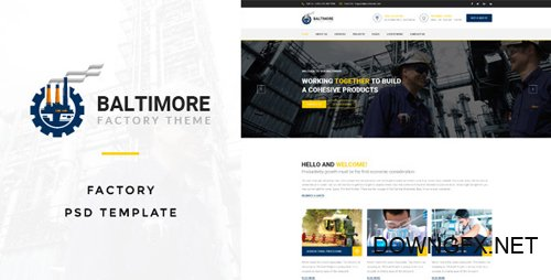 ThemeForest - Baltimore v1.0 - Factory PSD Template - 17338835