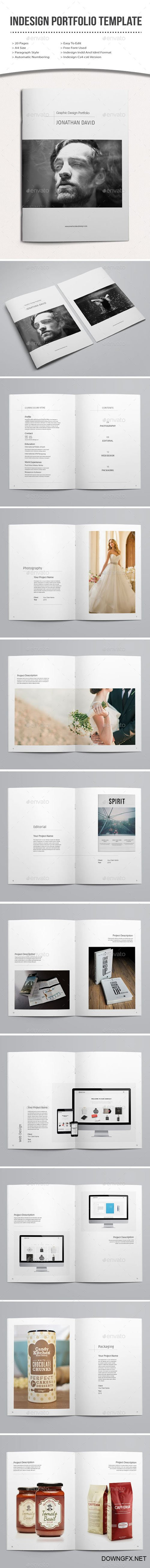 indesign portfolio template 12855629
