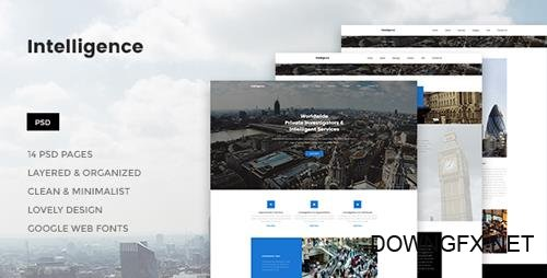 ThemeForest - Intelligence v1.0 - Individual & Corporate Investigations PSD Template - 20976527