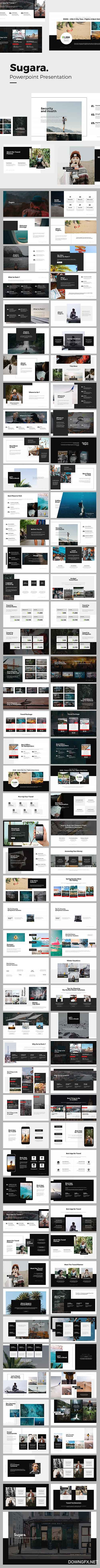 Sugara Travel Guides Powerpoint Template 21937115