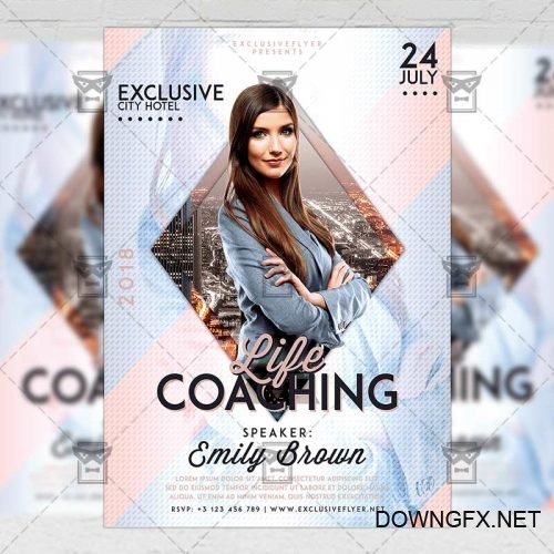 Business A5 Flyer Template - Life Coaching