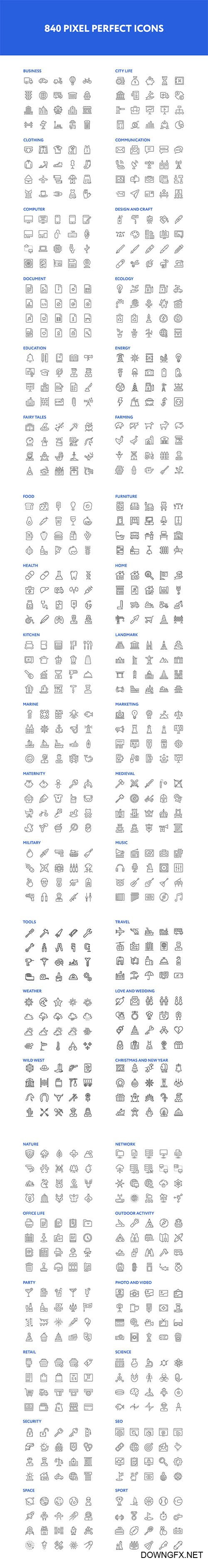 Pixer Outline icons