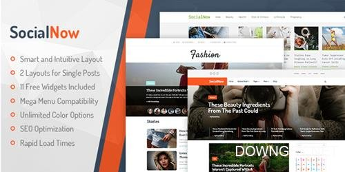 MyThemeShop - SocialNow v1.0.13 - Beautiful & Modern Magazine WordPress Theme