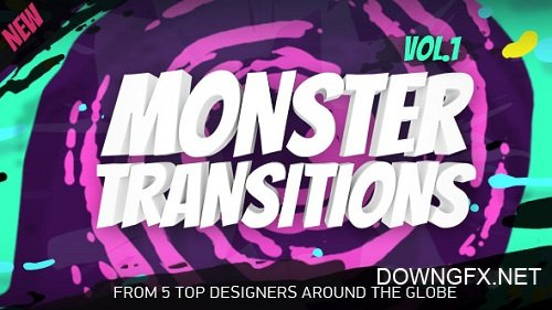 Monster Transitions - Add Ons for After Effects (Videohive)