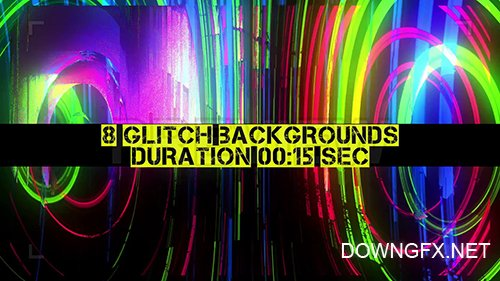 MA - 8 Glitch Backgrounds Pack 87469
