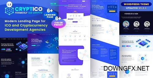 ThemeForest - Cryptico v1.2.1 - ICO Crypto Landing & Cryptocurrency WordPress Theme - 21626006