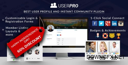 CodeCanyon - UserPro v4.9.25 - Community and User Profile WordPress Plugin - 5958681 - NULLED
