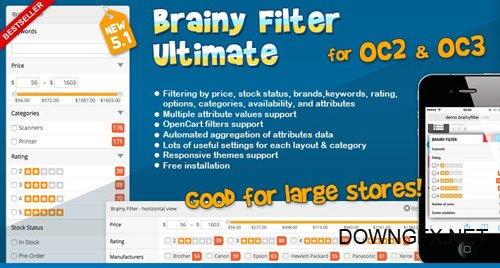 Brainy Filter Ultimate for OC2 v5.1.2 - OpenCart Module