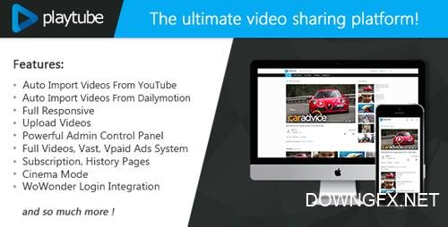 CodeCanyon - PlayTube v1.4.3 - The Ultimate PHP Video CMS & Video Sharing Platform - 20759294 - NULLED
