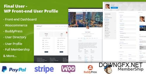 CodeCanyon - Final User v1.0.2 - WP Front-end User Profiles - 22231050