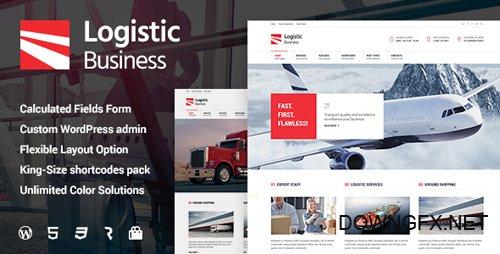 ThemeForest - Logistic Business v1.0.8 - Transport & Trucking Logistics WordPress Theme - 16043660