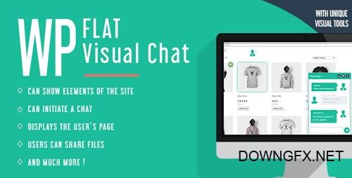 CodeCanyon - WP Flat Visual Chat v5.376 - Live Chat & Remote View for Wordpress - 8329900