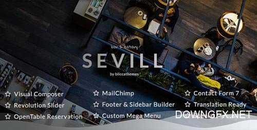 ThemeForest - Sevill v1.0.5 - Restaurant Cafe WordPress Theme - 21334449