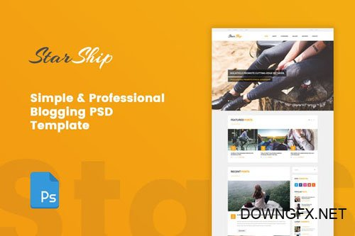 StarShip - Simple Blogging PSD Template