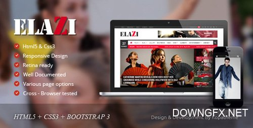 ThemeForest - Elazi v1.0 - Magazine HTML5 Template - 10118175
