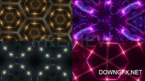 MA - Glowing Geometric Backgrounds Pack 94600