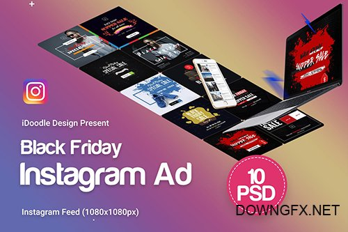 Black Friday Instagram Banners Ads - 10 PSD