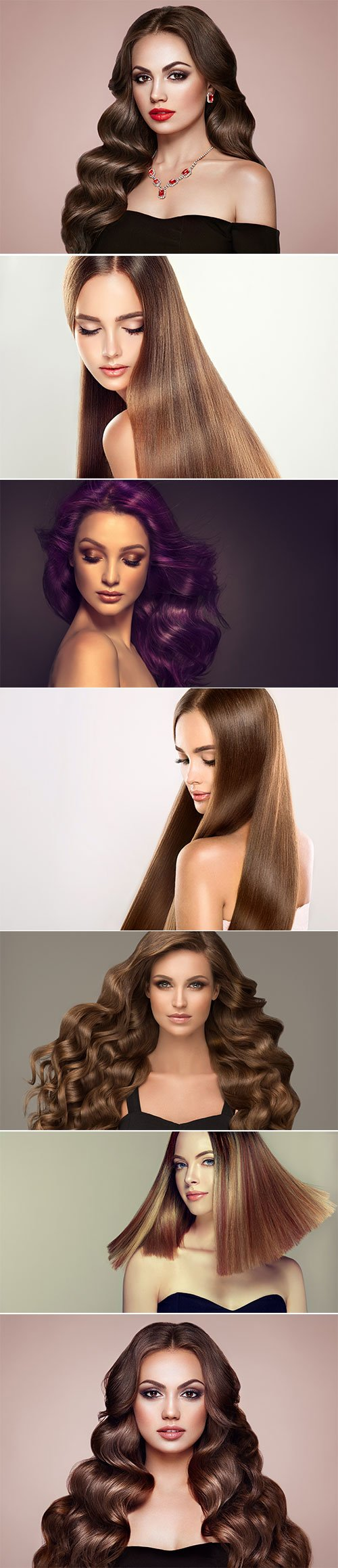 Luxury girls with beautiful hair and makeup