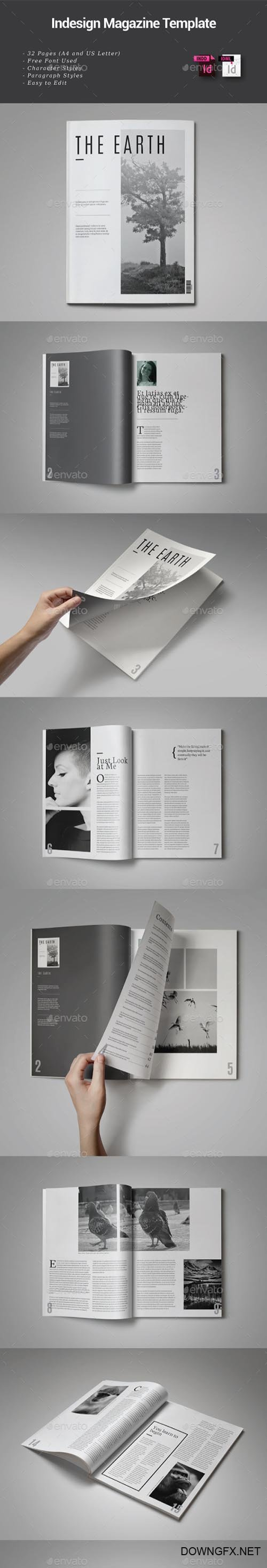 32 Pages Indesign Magazine Template 9112619