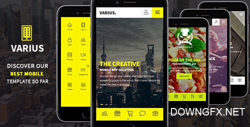 ThemeForest - Varius - Mobile and Tablet Creative Template (Update: 8 December 16) - 16080887