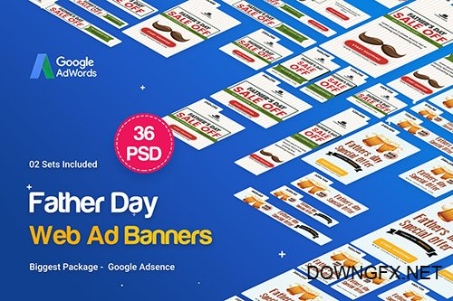 Father's Day Banners Ad - 36 PSD