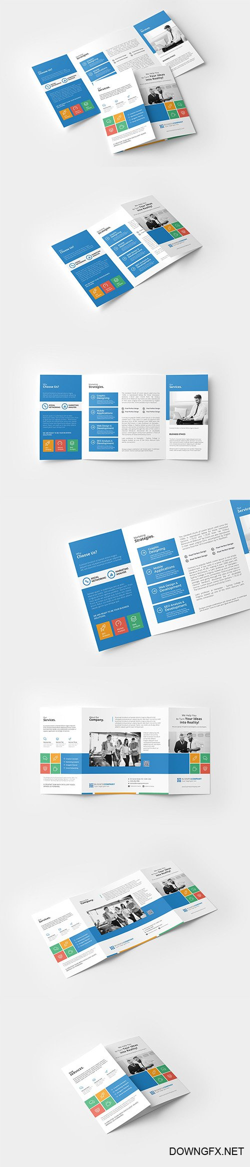 Square Getefold Brochure PSD