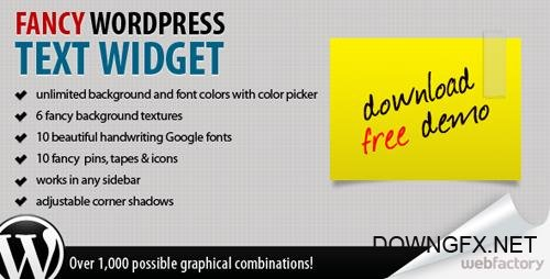 CodeCanyon - Fancy Text Widget v1.5 - 235344