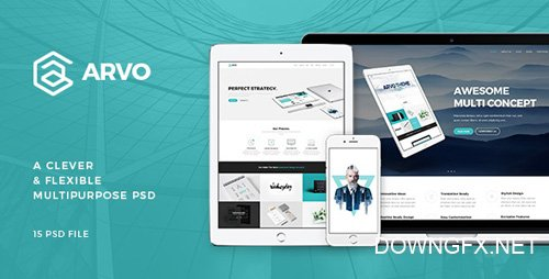 ThemeForest - Arvo v1.0 - A Clever & Flexible Multipurpose PSD - 15753722